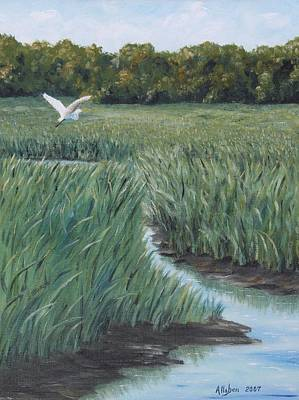 Tidal Creek Painting - Marsh Creek by Stanton Allaben