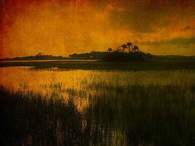 Marsh Island Sunset Art Print by Susanne Van Hulst