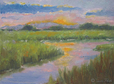 Lake Low Country Painting - Marsh Light by Sarah Parks