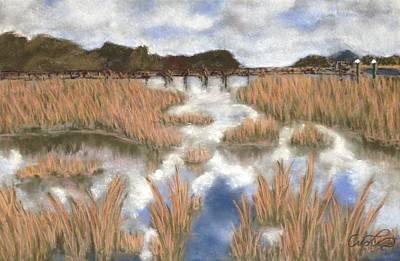 Pastel - Marsh Reflections by Cristel Mol-Dellepoort