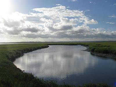 Photograph - Marsh River Bend Left by Ellen Meakin