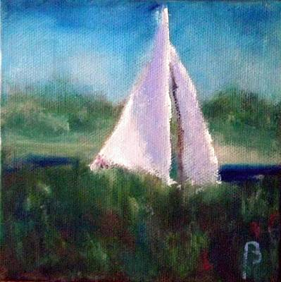 Painting - Marsh Sailing by Sarah Barnaby