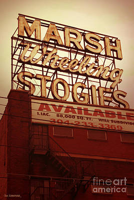 Signed Digital Art - Marsh Stogies Sign by Jim Zahniser
