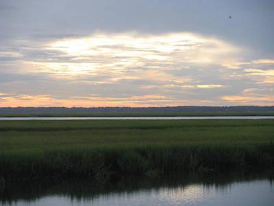 Photograph - Marsh Sunset 1 by Ellen Meakin