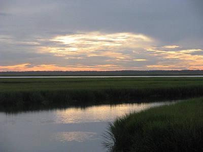 Photograph - Marsh Sunset 3 by Ellen Meakin