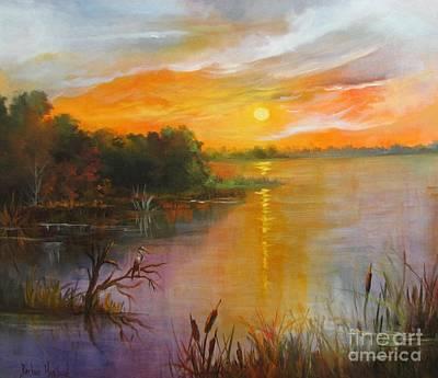 Painting - Marsh Sunset by Barbara Haviland