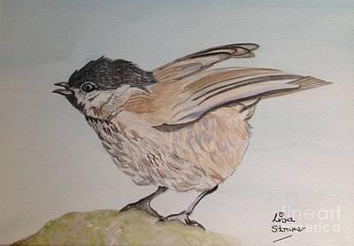 Leighton Moss Wall Art - Painting - Marsh Tit Bird Painting by Lisa Straker