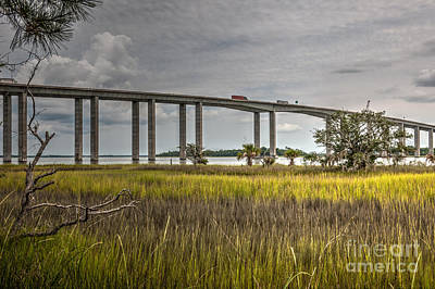 Photo Royalty Free Images - Marsh to Bridge View Royalty-Free Image by Dale Powell