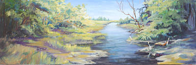 Painting - Marsh Waterway by Sharon Sorrels