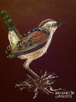 Brenda Brown Artist Painting - Marsh Wren by Brenda Brown