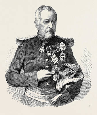 Marshal Castellane Commander-in-chief Of The Army Of Lyons Art Print by English School