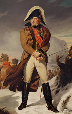Marshal Michel Ney 1769-1815 Duke Of Elchingen Oil On Canvas Art Print by Eugene Battaille