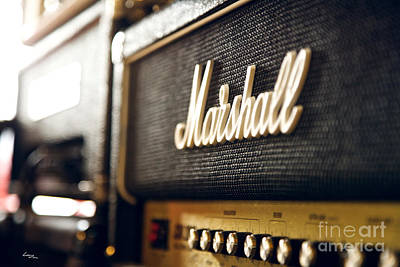 Vintage Photograph - Marshall Amplifier by T Lang