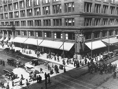 Photograph - Marshall Field's Store by Underwood Archives