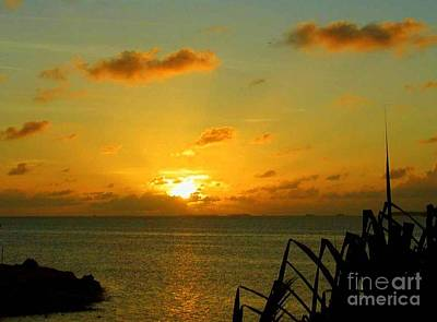 Photograph - Marshall Islands Sunset by Lew Davis