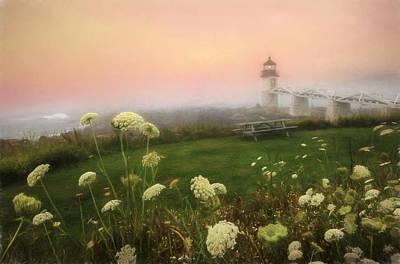 Maine Beach Digital Art - Marshall Point At Sunrise by Lori Deiter