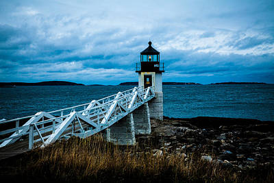 Marshall Point Light At Dusk 2 Art Print