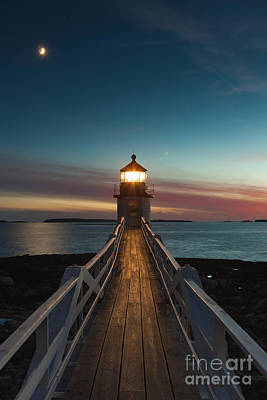 Photograph - Marshall Point Light At Twilight I by Clarence Holmes