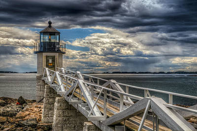 Photograph - Marshall Point Light by Fred LeBlanc