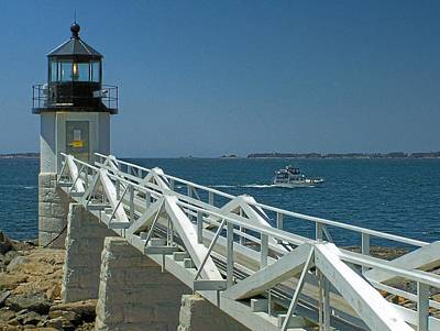 Photograph - Marshall Point Light by Gene Cyr