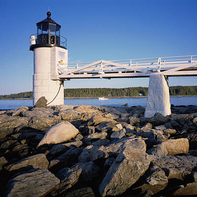 Photograph - Marshall Point Light-sq by Tom Daniel