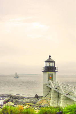 Marshall Point Lighthouse In Maine Art Print