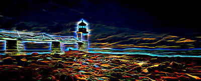 Photograph - Marshall Point Lighthouse Neon by David Smith