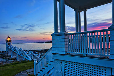 All American - Port Clyde Sunset by Diana Powell