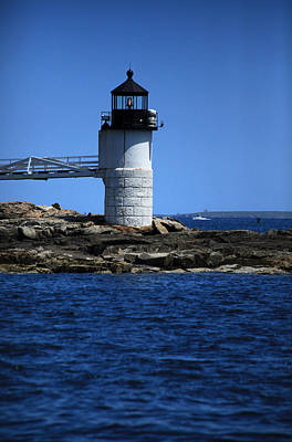 Coastal Maine Photograph - Marshall Point Surrounded By Blue by Karol Livote