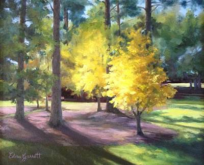 Painting - Marshallville Landscape With Yellow Trees by Edna Garrett