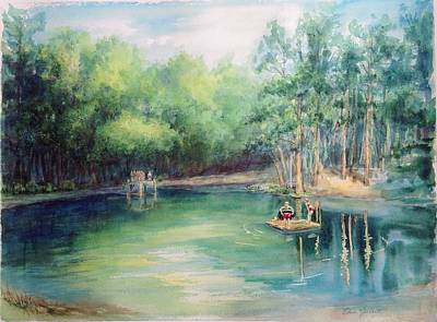 Painting - Marshallville Swimming Hole by Edna Garrett