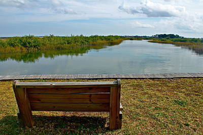 Photograph - Marshland Bench by Denise Mazzocco