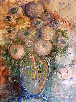 Painting - Marshmallow Flowers by Laurie Lundquist