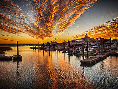 Photograph - Marshwalk Sunset by Bill Barber