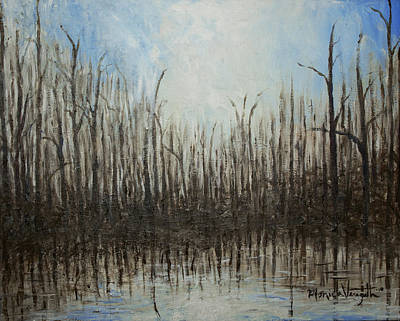 Painting - Marshy Parallels by Monica Veraguth