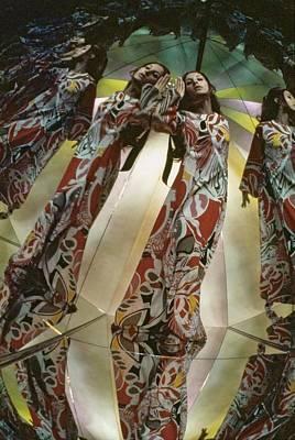 Photograph - Marta Montt Wearing Gustave Tassell by Raymundo de Larrain