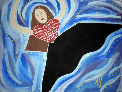 Painting - Martha Graham by Angela Yarber