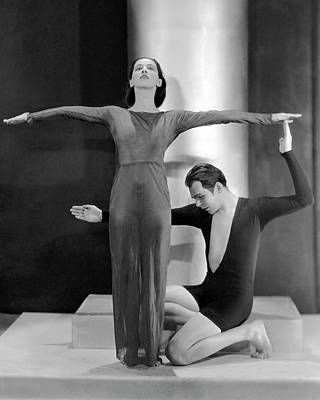 Photograph - Martha Graham Posing With Charles Weidman by Nickolas Muray