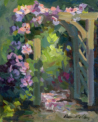 Painting - Martha Lake Clematis by Diane McClary