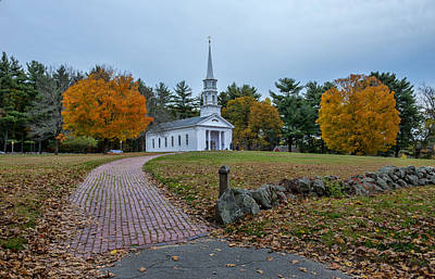 Sudbury Ma Photograph - Martha-mary Chapel Sudbury Ma by Wayne Collamore