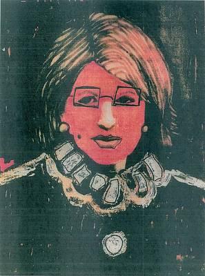 Martha Stewart With Glasses Art Print by Nick Banks