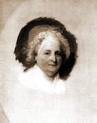 Martha Drawing - Martha Washington, Stuart, Gilbert, 1755-1828 by Litz Collection