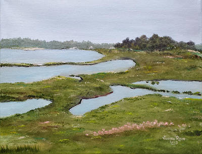 Painting - Martha's Vineyard Marsh by Judith Rhue