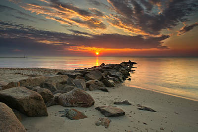Photograph - Marthas Vineyard Sunrise by Darylann Leonard Photography