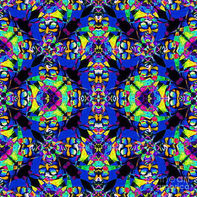 Jester Digital Art - Marti Gras Carnival Jester Abstract 20130129v5 by Wingsdomain Art and Photography