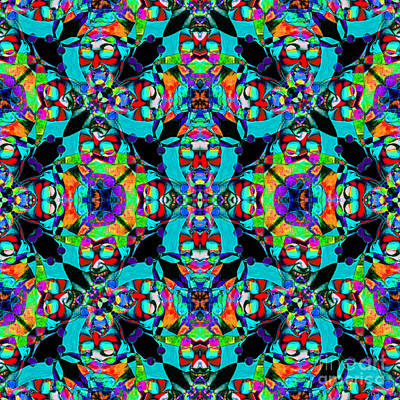 Abstract Photograph - Marti Gras Carnival Jester Abstract 20130129v6 by Wingsdomain Art and Photography