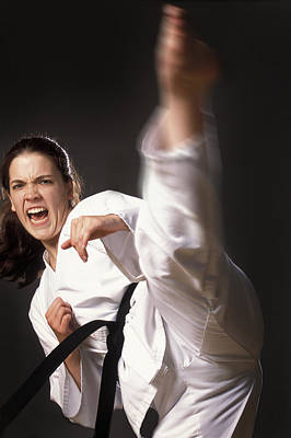 Excel Photograph - Martial Arts Kick by Don Hammond