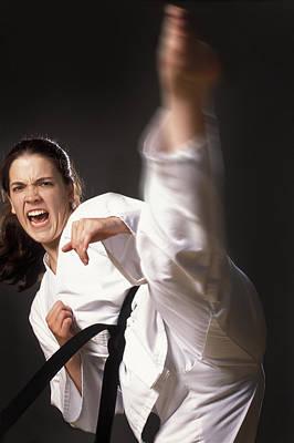 Self Shot Photograph - Martial Arts Kick by Don Hammond