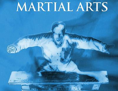 Kung Fu Digital Art - Martial Arts Poster by Dan Sproul