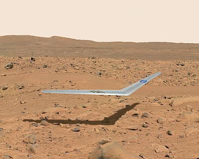 Aerodynamics Photograph - Martian Drone by Nasa Illustration/dennis Calaba